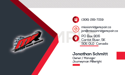 Mission Ridge Repair Business Card